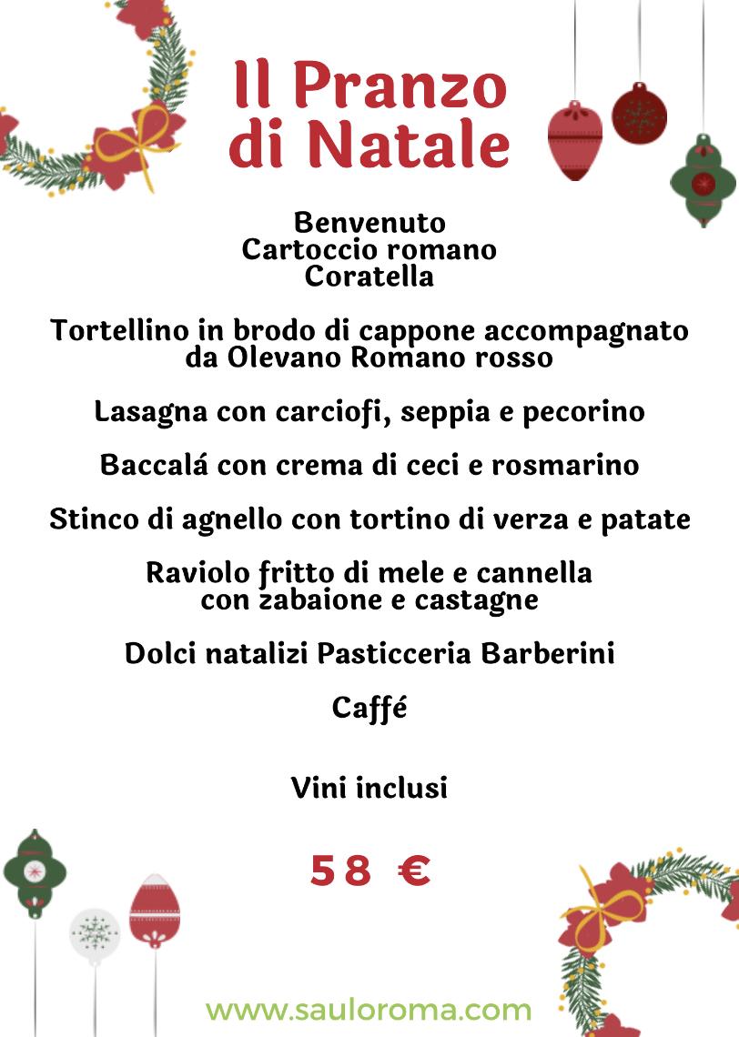 I Migliori Menu Di Natale.Il Pranzo Di Natale Saulo Roma